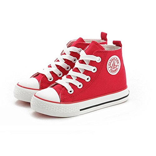 Sabe Unsix Kids Boys Girls Canvas High Top Gym Shoes Trainers Sneakers(Toddler/ Little Kid/ Big (Youth High Top)