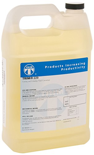 TRIM Cutting & Grinding Fluids 229/1 Corrosion Inhibiting Synthetic Coolant, 1 gal Jug (Cutting Band Saw Fluid)