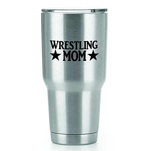 Wrestling Mom Vinyl Decals Stickers ( 2 Pack!!! ) | Yeti Tumbler Cup Ozark Trail RTIC Orca | Decals Only! Cup not Included! | 2 - 4 X 1.6 inch Black Decals | KCD1244