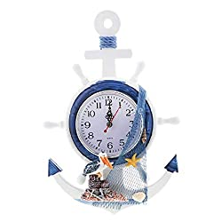 Wall Clocks - Sea Beach Naudical Themed Anchor Clock Wall Hanging Decor Ornament Home Time 33cm - Up Small Industrial Potter Big Parts Square 625-625 On Diy