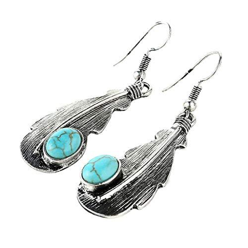 Tassel Drop Earrings Turquoise Leaves Antique Dangle Drop Earrings for Women Necklace Jewelry Crafting Key Chain Bracelet Pendants Accessories Best