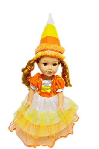 My Brittany's Candy Corn Halloween Witch Costume for American Girl Dolls Wellie Wishers