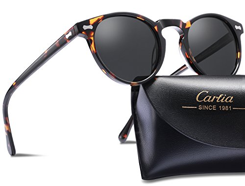52ae009b2f Carfia Polarized Sunglasses for Women Men丨Vintage Round Sunglasses with Case 丨100% UV400 Protection - Buy Online in Oman.