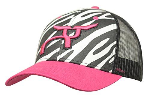 RopeSmart Zebra Print & Pink Steer Snapback Cap (101ZEBRA) (Cap Pink Zebra)