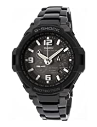 Men's G-Shock Chronograph Black Dial Black Ion Plated Stainless Steel