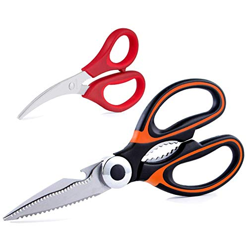 - Kitchen Scissors - Heavy Duty Cooking Shears for Cutting Poultry, Food, Meat, Chicken, Seafood Scissors As a Gift for Christmas, Dishwasher Safe, by Huameilong