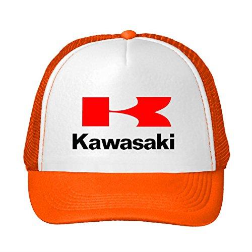 JUY Popular Baseball Cap Kawasaki Motorcycle Logo Outdoor Sports Mesh Hat