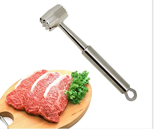 Mallets Grover (Ubrov Stainless Steel Double-Sided Meat Tenderizer Mallet Home Kitchen Stable Tool)