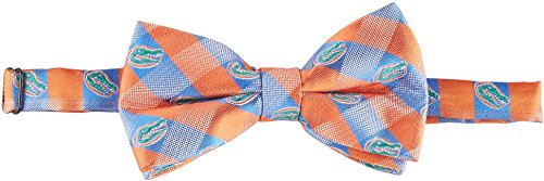 (Florida Gators Checked Logo Bow Tie - NCAA College Team Logo)