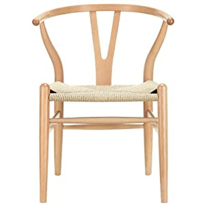 Amazoncom LexMod C24 Wishbone Chair in Natural Chairs