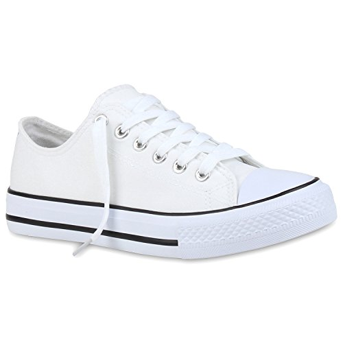 Stiefelparadies - Zapatillas de casa Mujer blanco y negro
