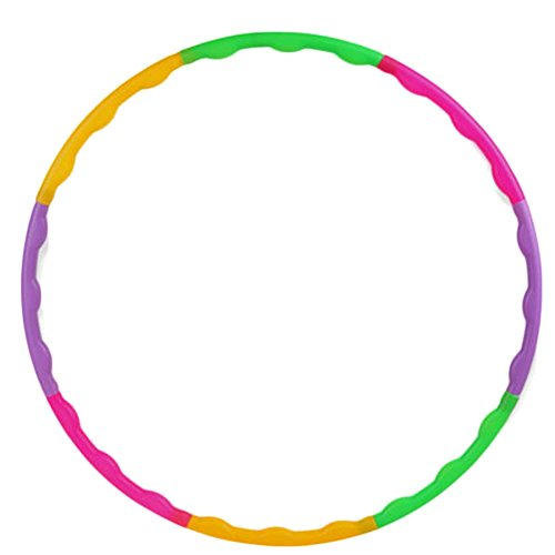 ZYN Children Colorful Removable Weighted Hula Hoop Pilates Fitness Circles Great for Exercise Dance Color Random