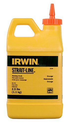 (IRWIN Tools STRAIT-LINE 65205 High-Visibility Marking Chalk, 8-ounce, Orange (65205) )