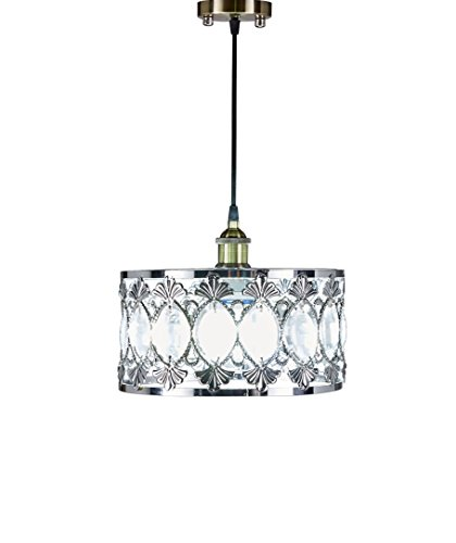 SwanHouse Ceiling Light Chandelier Silver Modern Pendant Lamp KOK 13x13x7