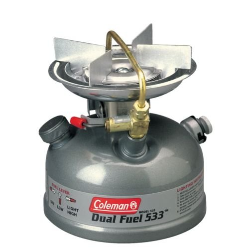Dual Fuel Single (Coleman Guide Series Compact Dual Fuel Stove, Green,7.38