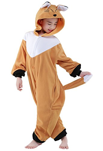 Fox 8 Halloween Costumes (Fox Children Halloween Cosplay Costume OnePiece Pajamas Carnival Outfit Anime(XL fits height 55-59