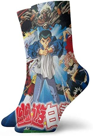 Yuanmeiju Yu Yu Yu Hakusho Unisex Persoonlijkheid Print Comfortabele Sport Crew Running Socks