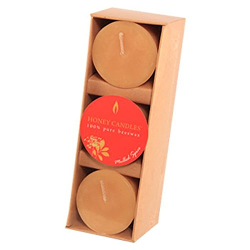 Honey Candles Essential Votives Mulled Spice Beeswax Candle (3 Pack), 3 - Donation Save Bees The