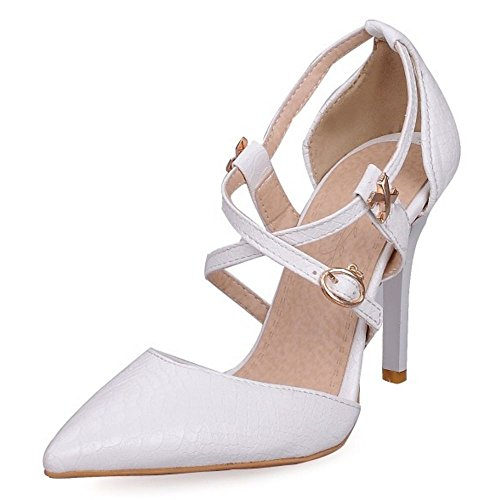 Cross Stiletto White Pointed Ladies Shoes Sexy LongFengMa Sandals Toe tied EYTqZWwC