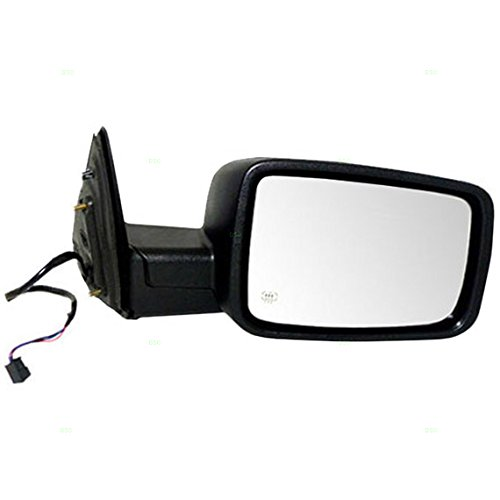 (Passengers Power Side View Mirror Heated Textured Replacement for Dodge & RAM Pickup Truck 55372066AG )