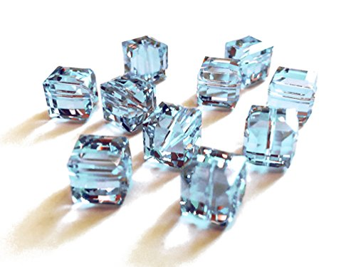 Wholesale Genuine Swarovski 5601 8mm Alexandrite Cube Beads, Choose Package Size (6)