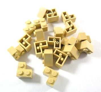 10 Stück LEGO® 1x2 Fliesen Platte mit Griff blau