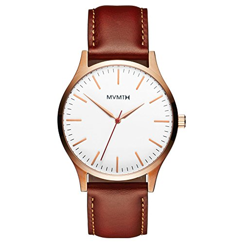 (MVMT 40 Series Watches | 40 MM Men's Analog Watch | Rose Gold Natural)