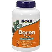 NOW Boron 3 mg,250 Capsules
