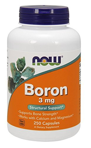 NOW Boron 3 mg,250 Capsules