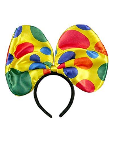 936499d77cb8 GIRM® - S7873 - Frontino Fiocco da Clown per Costume di Carnevale, a Pois