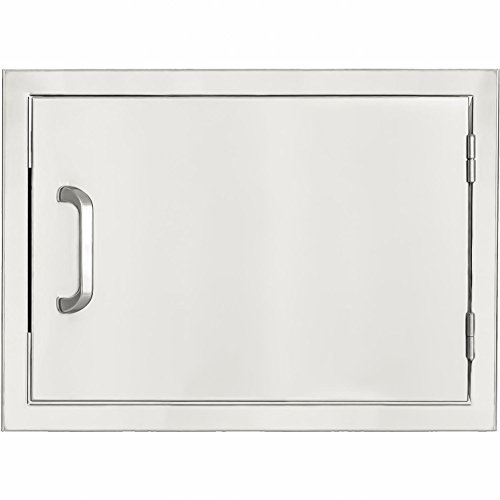 Mounted Single Drawers Flush (BBQGuys.com Kingston Series 24-inch Stainless Steel Right-hinged Single Access Door - Horizontal)
