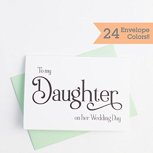 Amazon Com Wedding Day Card To My Daughter On Her Wedding Day