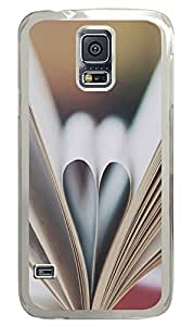Samsung Galaxy S5 indestructible cases Paper Heart Love Cool PC Transparent Custom Samsung Galaxy S5 Case Cover