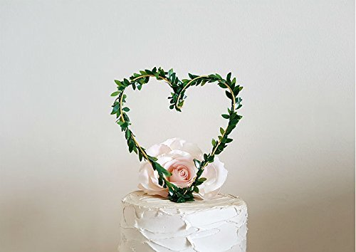 Wedding Cake Topper - HEART, Wedding Cake Decoration by AntoArts