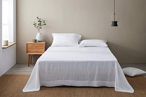 DAPU Pure Stone Washed Linen Flat Sheet Set