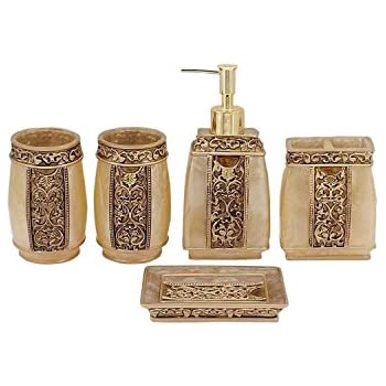 Creative scents shannon bathroom accessories for Bathroom essentials set