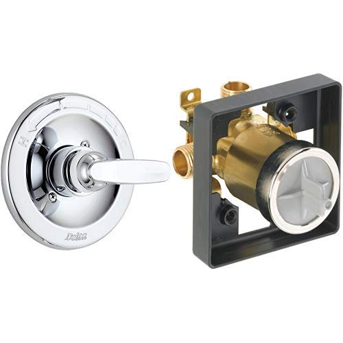 Delta Foundations BT13010 Monitor 13 Series Valve Trim Only, Chrome (Valve sold separately) AND Delta Faucet R10000-UNBXHF MultiChoice Universal Shower Valve Body for Shower Faucet Trim Kits