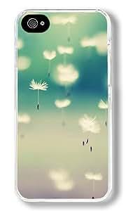 Autumn Dandelion 03 Custom iPhone 4S Case Back Cover, Snap-on Shell Case Polycarbonate PC Plastic Hard Case Transparent