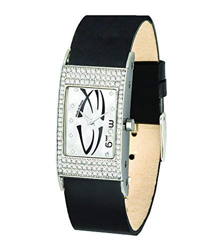 Moog Paris Vogue Women's Watch with Silver Dial, Interchangable Black Strap in Genuine Leather - M44262-010