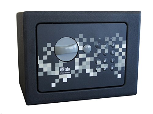 Btv pixel - Caja fuerte -17 170x230x170 negro: Amazon.es: Bricolaje y herramientas