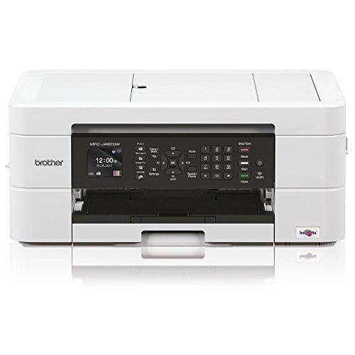 Brother mfcj497dw Impresora multifunci/ón Inyecci/ón de Tinta de Colores A4/con conectividad para Dispositivos Muebles y Wireless Cargador autom/ático y Pantalla LCD de 4.5/cm 6000/X 1200/dpi Blanco