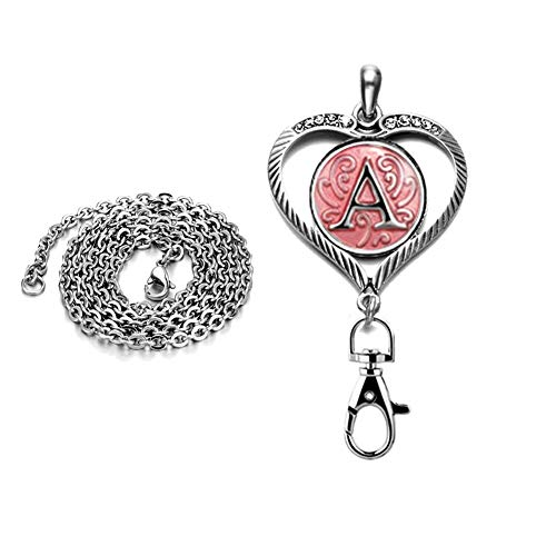 DH-Love-Heart-Alphabet-A-Z-Snap-Button-Charms-ID-Card-Badge-Holder-Office-Lanyards-Keychain-Jewelry-for-Women
