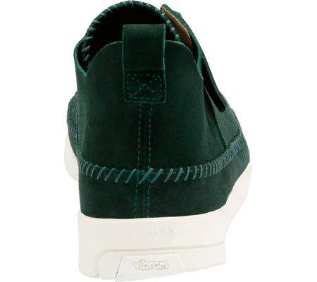 Clarks Mens Suede Trigenic Flex Sneakers Donkergroen Suède