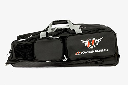 MPowered Custom Premium Baseball or Catchers Rolling Bat and Gear Bag, Multiple Exterior Quick-Access Organization Pockets, 48