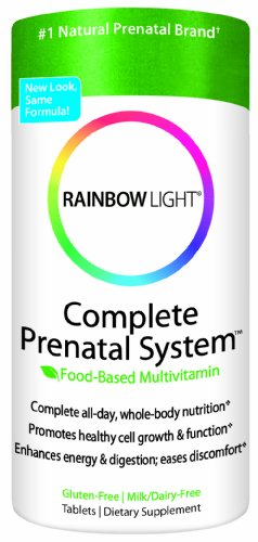 Arco iris luz completa Prenatal sistema alimento basado en tabletas 180 tabletas