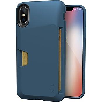 "Silk iPhone X Wallet Case - VAULT Protective Credit Card Grip Cover - ""Wallet Slayer Vol.1"" - Blue Jade"