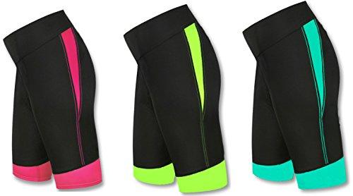 Señoras Yoga Ejercicio Pantalones cortos pantalones cortos para correr Gimnasio Fitness pantalones de equitación, mujer, Fluorescent, small Fluorescent