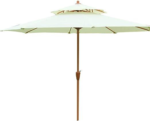 LZPQ sombrilla Jardin 2.7M - Madera- Sombrilla para Exterior, jardín y Patio: Amazon.es: Jardín