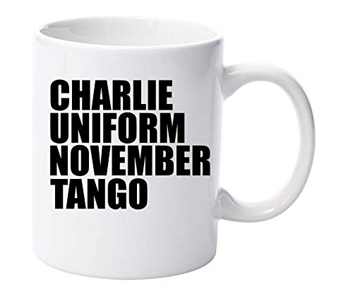 Charlie Uniform November Tango Funny Rude Mug 11oz Ceramic Gift Xmas Fathers Day