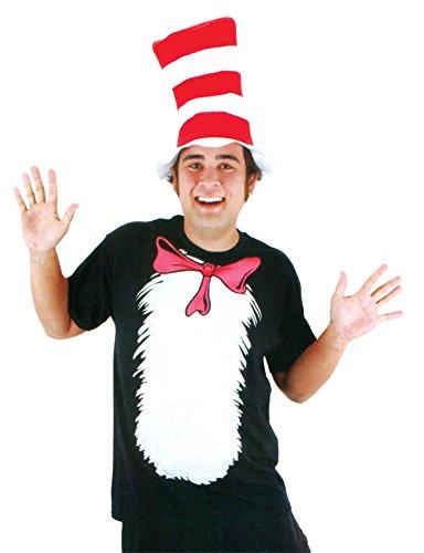 Dr. Seuss Cat in the Hat Short Sleeve T-Shirt with Hat (Mens XL) by elope (Cat In The Hat T Shirts Adults)
